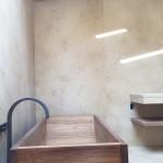 Casa Malibu Complete bathroom tile and stone. Counter tops, Sink, Shower. Location: Malibu, CA. Date: 2014-2015